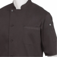Black VALAIS Signature V Series Short Sleeve Chef Jacket