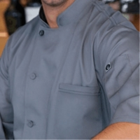 Gray VALAIS Signature V  Series Short Sleeve Chef Jacket