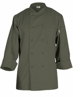 PERUGIA Basic Chef Jacket in Olive Green