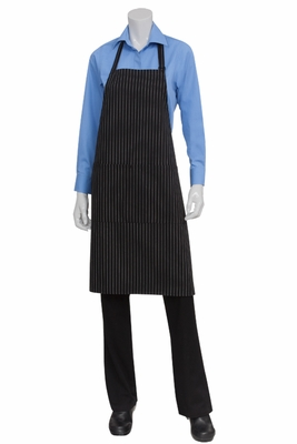 Blue and white strip chef aprons apologise, but