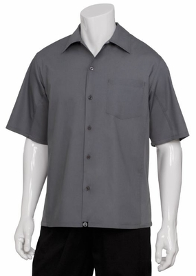 Smoky GRAY Cool Vent <br>Men's Server Shirt