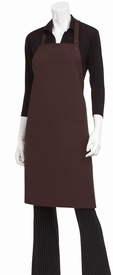 Two Patch Pocket BIB Apron  in Chocolate
