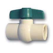 "1-1/4"" Threaded Ball Valve - FPT x FPT - PVC"