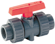 "1-1/4"" True Union Ball Valve - Slip and Threaded Adapters Included"