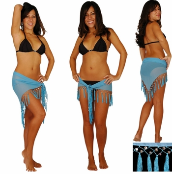 "Sheer Sarong ""Light Blue"""