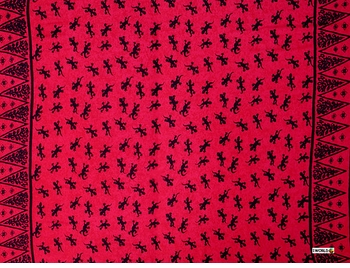 "Gecko Mens Sarong ""Red / Black"""