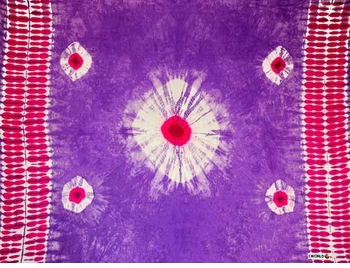 Tie Dye Mens Sarong in Purple - Pink