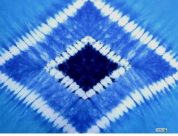 """Double Blue Diamond"" Mens Sarong"