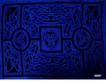 "Celtic Circles ""Cool Blue"""