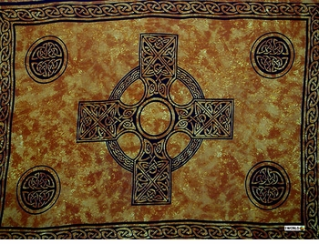 "Celtic Cross ""Rich Gold"""