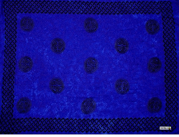 "Celtic Mens Sarong ""Interlace Knotwork"" Royal Blue"