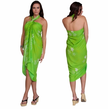 Starfish Sarong in Lime Green