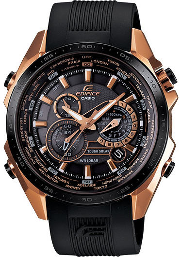 Casio Edifice Black Lable Solar 3D-Dial Watch EQS500CG-1A at Sears.com