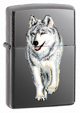 Zippo Wolf Black Ice Lighter