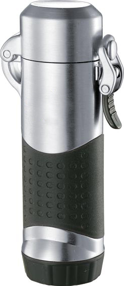 Visol Summit Silver Satin Torch Flame Lighter For Outdoors