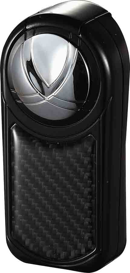 Visol Dobrev III Triple Jet Flame Black Carbon Fiber Cigar Lighter