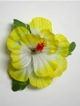 Single Hibiscus  Hair Clip - #43 yellow