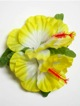 Double Hibiscus hair clip - #43 yellow