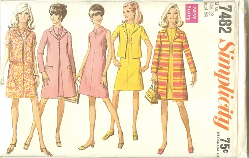Simplicity 7482 Dress,Coat & Jacket,Bust 34""