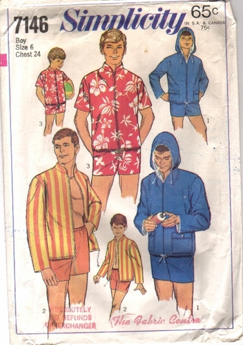 Simplicity 7146 Swim Shorts & Jacket