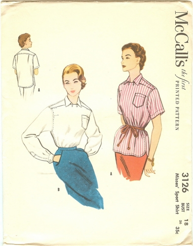 """McCall's 3126 Blouses, Bust 36"""""""