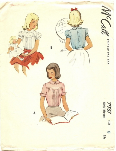 """McCall 7937 Blouse, Bust 26"""""""