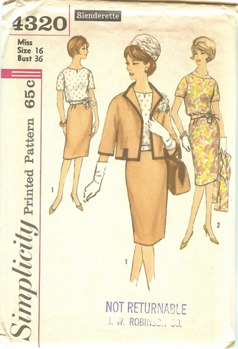 Simplicity 4320 Jacket, Blouse & Skirt, Bust 36""