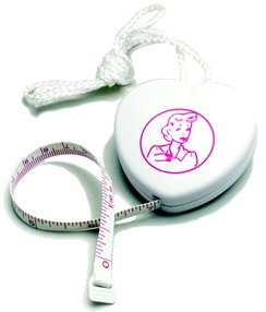 Heart - Shaped Retractable Measuring Tape