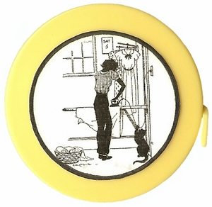 """Acme's """"Ironing Day"""" Silhouette  Retractable  Measuring Tape"""