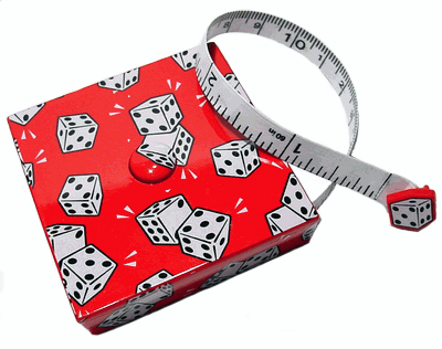 """Pair Of Dice"" Retractable  Measuring Tape"