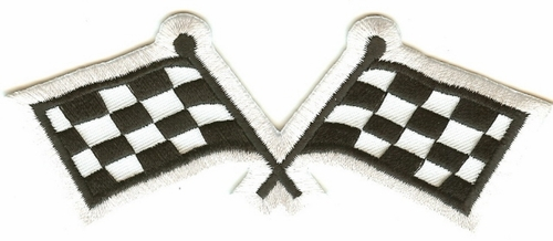 Large Racing Flags Patch