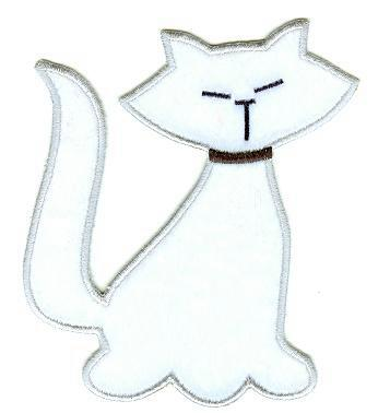Medium Velour Cat Applique