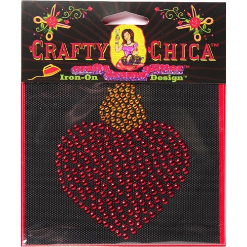 "Crafty Chica ""Milagro Heart"" Iron-On Stud Design"
