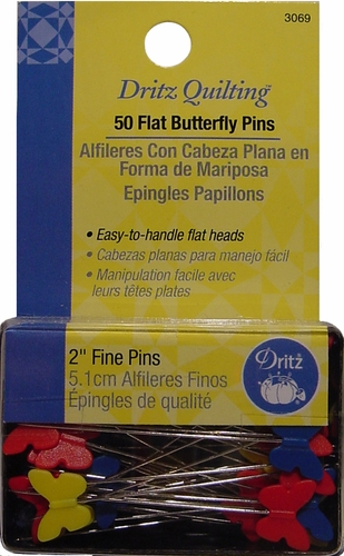 Flat Butterfly Head Pins