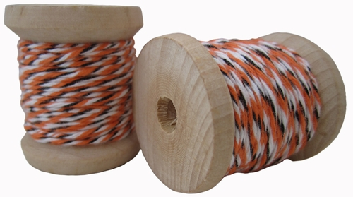 Orange, Black & White Cotton Twine