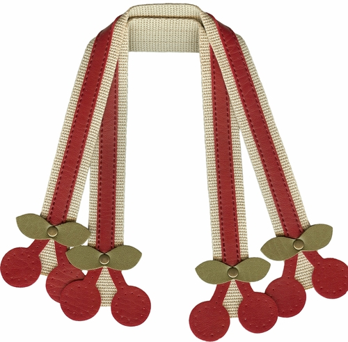 Cherry Sew-On Bag Strap Set