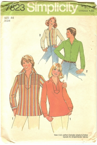 Simplicity 782344 Shirt & Pullover Top, Neck 16 1/2""