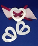 3 Mother Of Pearl Heart Buckles