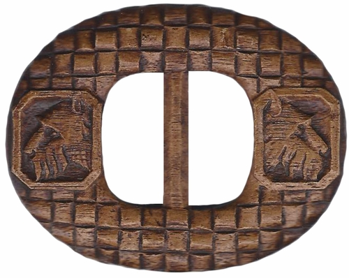 Vintage Belt Buckle With Scotties