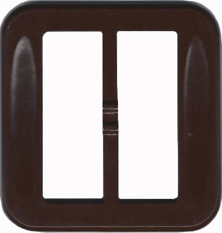 Vintage Brown Plastic Belt Buckle