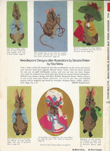Needlepoint Designs After Illustrations By Beatrix Potter
