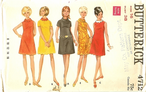 Butterick 4712 Dress,Bust 38""