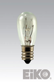 Eiko 6S6/6V 6V 6W S-6 Candelabra Base Light Bulb
