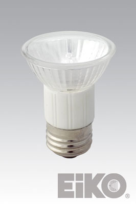 Eiko JDR75/MF - Halogen Light Bulb, 120V 75W 20 Deg. Medium Flood MR16 Front Glass Medium Base, 031293104526.