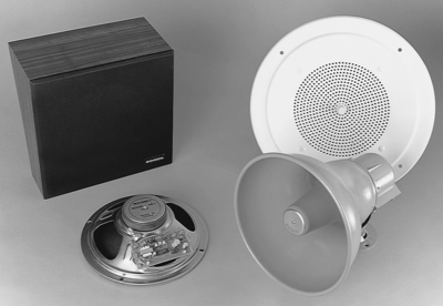 Bogen AS1 - speaker with 1 watt amplifier
