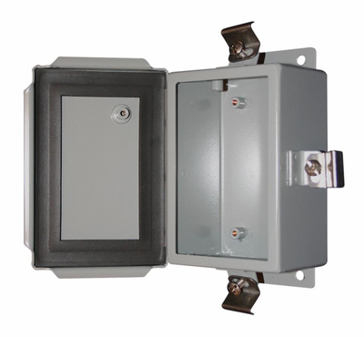 Bud Industries SN-3703 - NEMA 4X Enclosures-SN series-NEMA 4X Sheet Metal Boxes-L12 X W10 X D5 - Sheet Metal Nema Box
