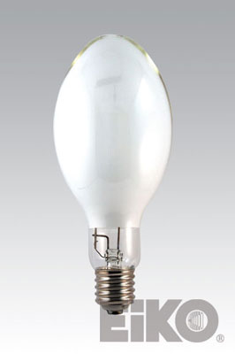 Eiko H33GL-400/DX 400W Coated Mercury Vapor E-37 Mogul Base Light Bulb