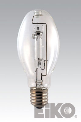 Eiko H37KB-250 250W Clear Mercury Vapor E-28 Mogul Base Light Bulb