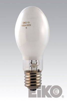 Eiko H38JA-100/DX 100W Coated Mercury Vapor E23-1/2 Mogul Base Light Bulb