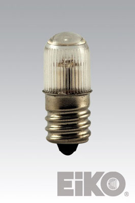 Eiko B7A - Miniature Light Bulb, 105-125V 2MA T4-1/2 Candelabra Screw Base Neon, 031293400208.